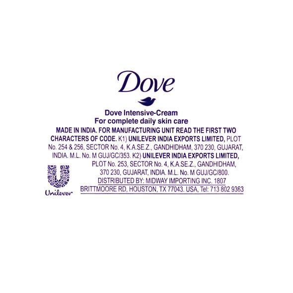 Dove Intensive Cream / Crema Nutrición Intensa 2.53 oz _Information