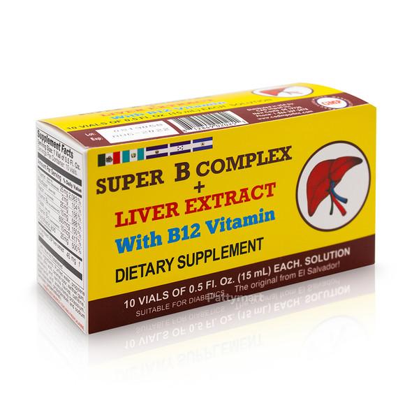 SUPER COMPLEJO B + HIGADO 10 VIALES 15 ml_BOX