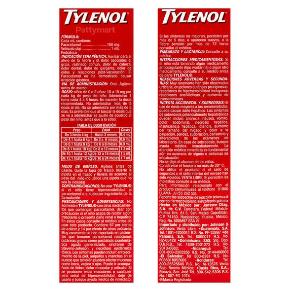 TYLENOL PEDIATRICO MX 15 ML