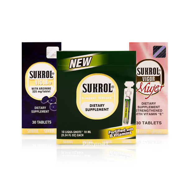 Set Sukrol Mujer 30 tabs + Liquikshot x 10 viales + Hombre x 30 tabs