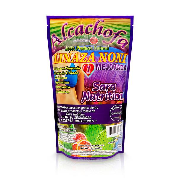 Alcachofa Linaza Noni 400 G Sara Nutrition