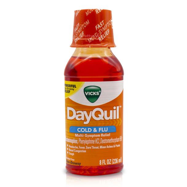 Dayquil Cold & Flu Multi-Symptom relief 8 oz_Jar_Frasco