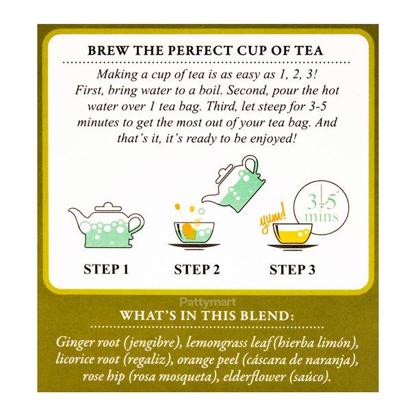 Te de Jengibre - Ginger Tea TADIN_Facts
