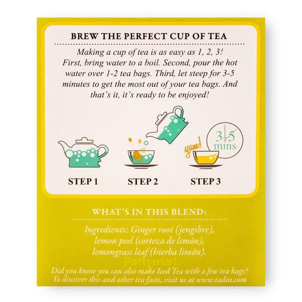 Te Limon y Jengibre/Tea Lemon Ginger TADIN_Facts