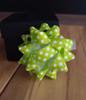 "Green & White Dots 2"" Star Bows"