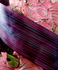 "Variegated Burgundy & Black 4"" Aspidistra Ti Leaf Floral Ribbon"