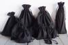Black Cotton Drawstring Bags, Wholesale Black Drawstring Bags | Packaging Decor
