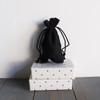 Black Cotton Drawstring Bags 3 x 5 inches, Wholesale Black Drawstring Bags | Packaging Decor