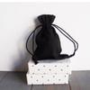 Black Cotton Drawstring Bags 4 x 6 inches, Wholesale Black Drawstring Bags | Packaging Decor