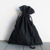 Black Cotton Drawstring Bags 6 x 14 inches, Wholesale Black Drawstring Bags | Packaging Decor