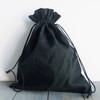 Black Cotton Drawstring Bags 10 x 12 inches, Wholesale Black Drawstring Bags | Packaging Decor