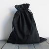 Black Cotton Drawstring Bags 12 x 14 inches, Wholesale Black Drawstring Bags | Packaging Decor