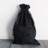 Black Cotton Drawstring Bags 10 x 16 inches, Wholesale Black Drawstring Bags | Packaging Decor