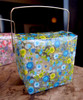 "2 3/4""x2""x2 1/2"" Takeout Box-Yellow/Blue Floral"