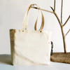 Washed Canvas Tote Bag with Side Pockets Natural B798-71, Wholesale Canvas Tote Bags   Packaging Decor