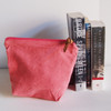 Wholesale Zippered Pouches, Cotton Zipper Pouch Supplier, Natural Cotton Pink Zippered Pouch  | Packaging Decor