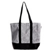 """Gray Recycled Canvas Tote with Black Band 18""""W x 15""""H x 5 3/4"""" Gusset B894-79, Wholesale Recycled Canvas Bags, Cotton Tote Bags 