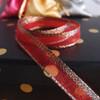 Red Glittery Sheer Ribbon