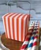 """1 5/8""""x1 5/8""""x2"""" Takeout Box-Orange Stripes"""