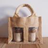 2-Jar Gift Set Burlap Tote