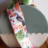 "1 ½"" x 10 meters Tropical Flamingos White Satin Ribbon"