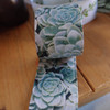 1 ½ inches  x 10 meters Succulent Printed Ribbon AS031-53, Wholesale Ribbon | Packaging Decor