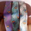"1 1/2"" Purple Peacock Feather Ribbon"