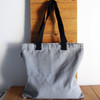 """Gray Recycled Canvas Tote  with Black Shoulder Band 15"""" W x 15"""" L"""