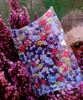 """Pillow Box-Purple/Red Floral 3 1/2""""x3""""x1"""""""