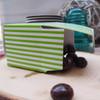"2""x2""x2""Paper Square Box-Green Stripes"