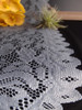 """13""""x120"""" Gray Floral Lace Table Runner"""