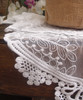 """12""""x74"""" White Lace Table Runner"""