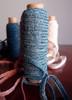 Blue Faux Linen Braided Cord