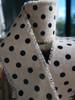 Black Dots Linen Ribbon (2 sizes)
