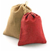 Red Jute Bag with Cotton Cord ( 4 sizes)