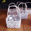 Mini Lace Favor Baskets Square