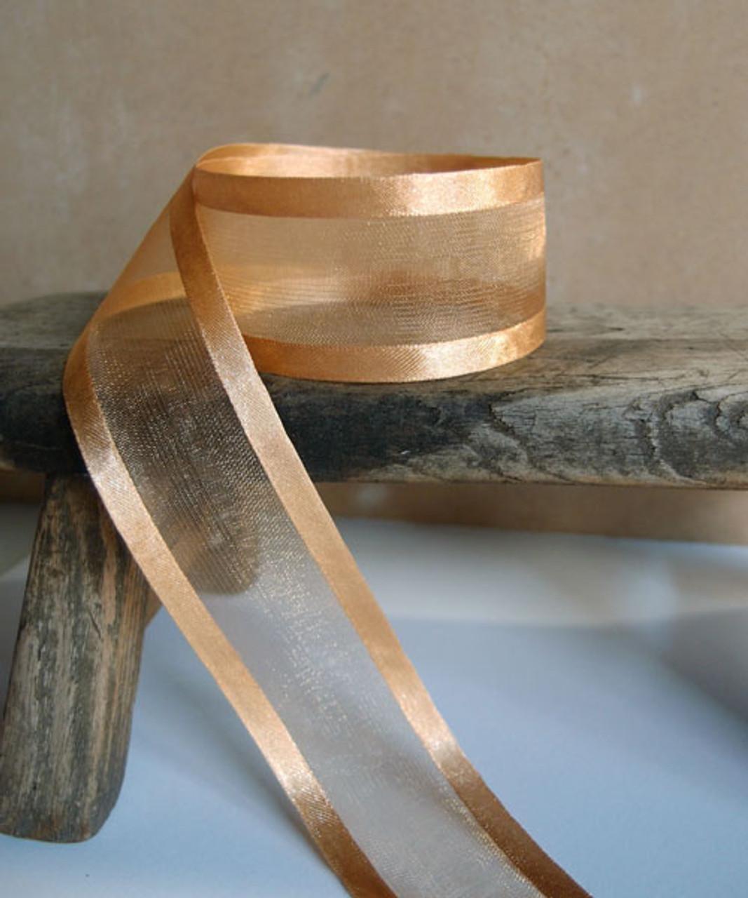Dijon Sheer Ribbon with Satin Edge (3 sizes)