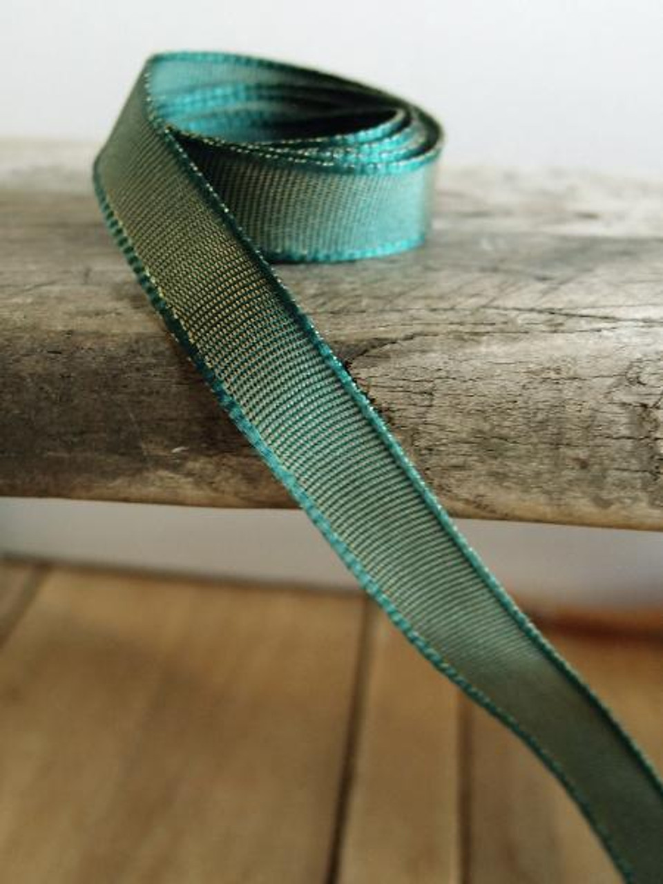 Hunter Green Two-Toned Grosgrain Ribbon (2 sizes)