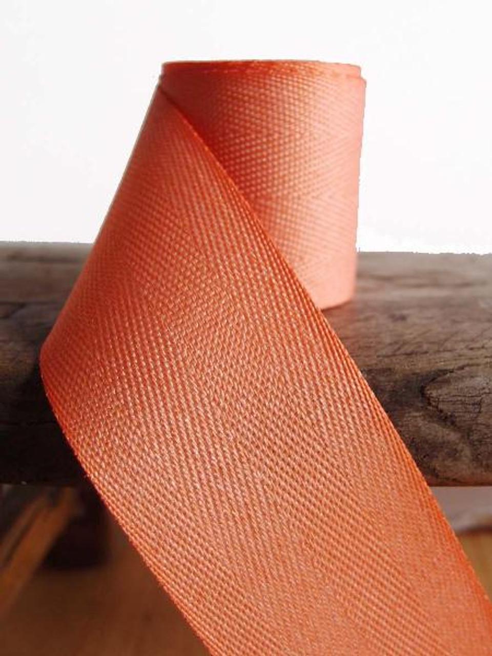 Peach Herringbone Twill Ribbon (3 sizes)