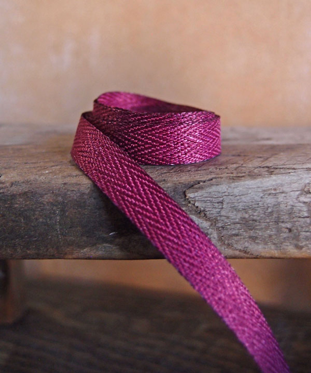 Burgundy Herringbone Twill Ribbon (3 sizes)