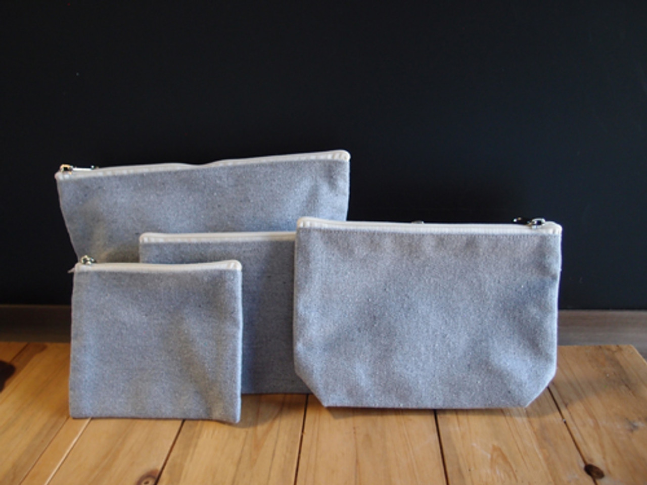 Recycled Canvas Zipper Bags, Recycled Canvas Totes, Wholesale Cotton Zipper Bags | Packaging Decor
