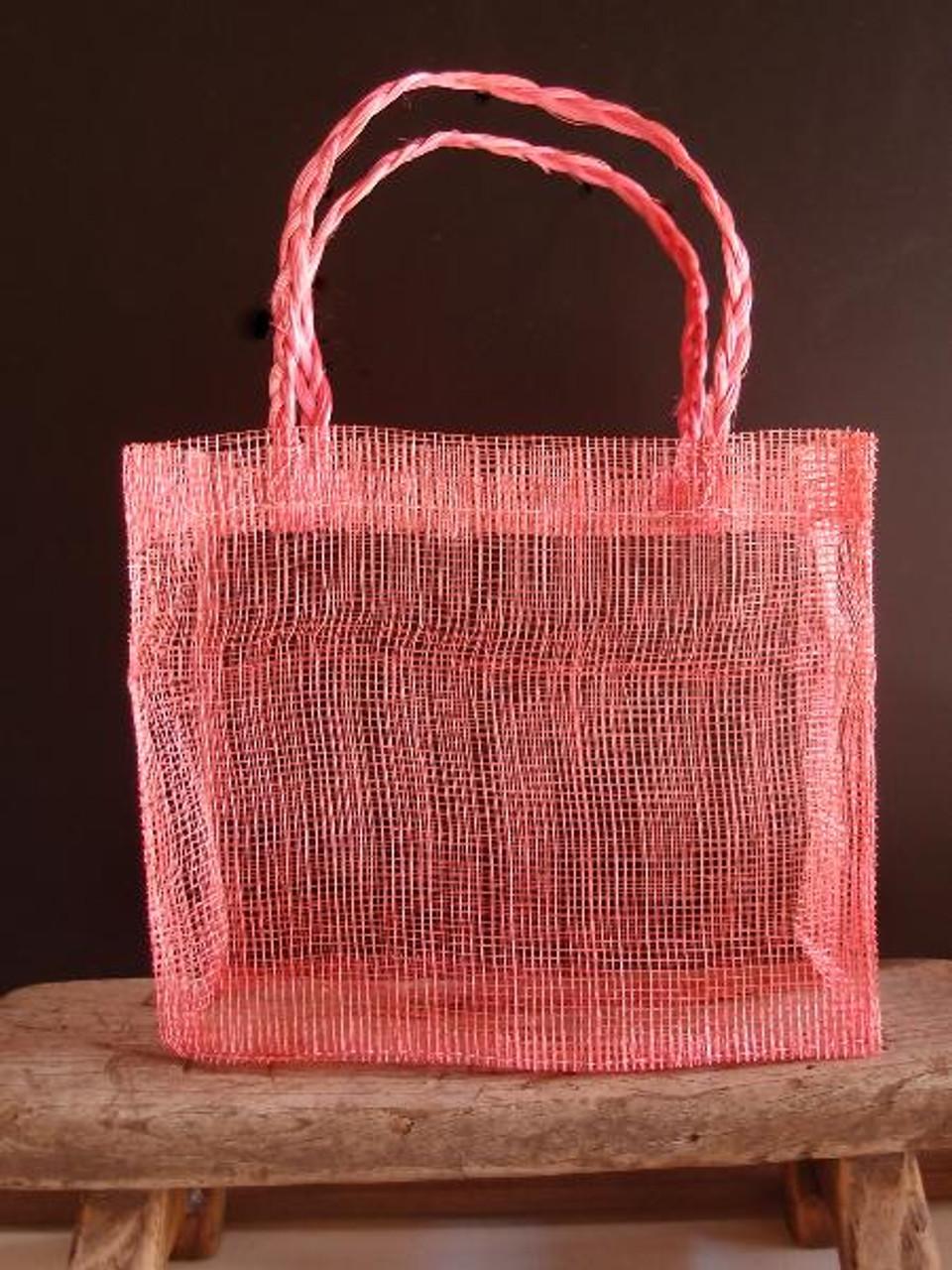 Pink Sinamay Mini Purses