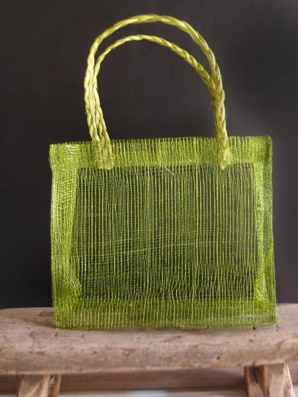 Green Sinamay Mini Purses