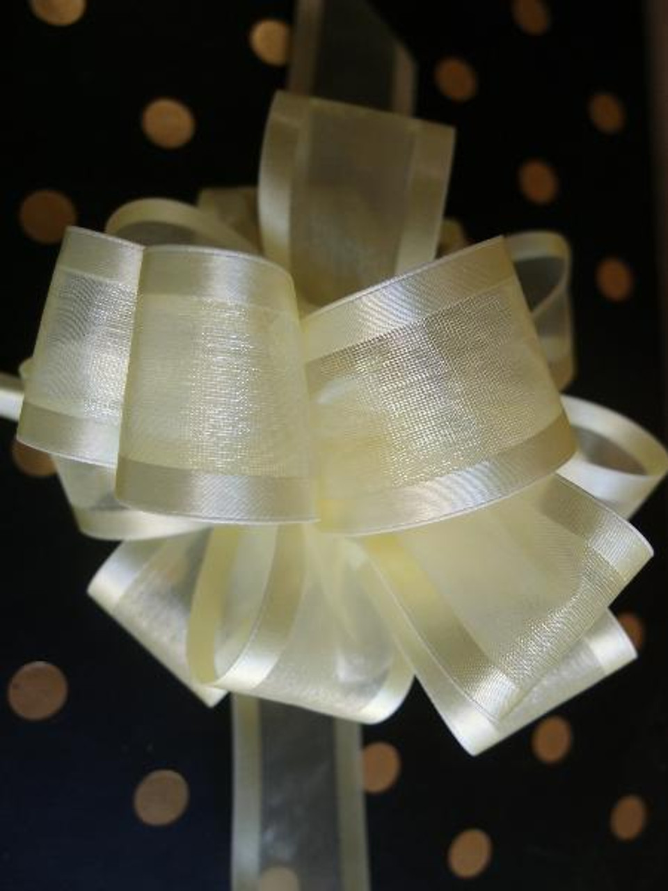 Wholesale Pull Bows, Gift Bows, Pull Bow Ribbon, Yellow Pull Bows | Packaging Decor