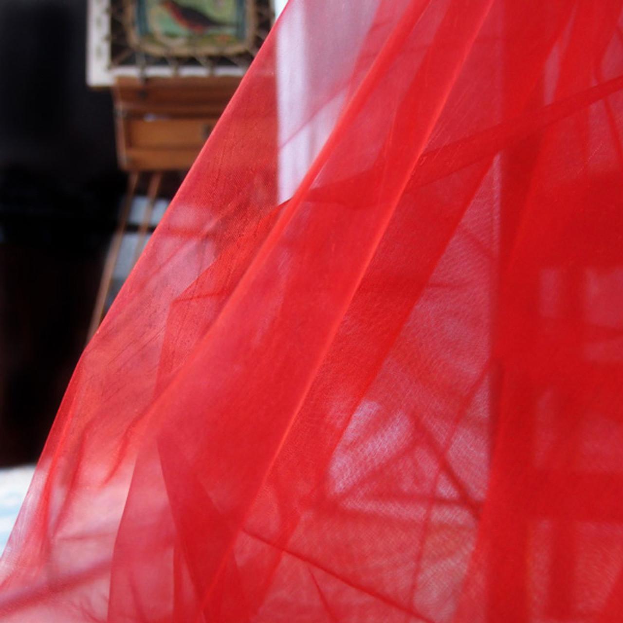 "Red Organza Sheet 54"" x 108"""