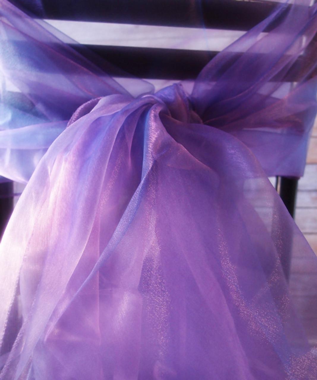 """Lavender Two-tone Organza Sheet 54"""" x 108"""""""