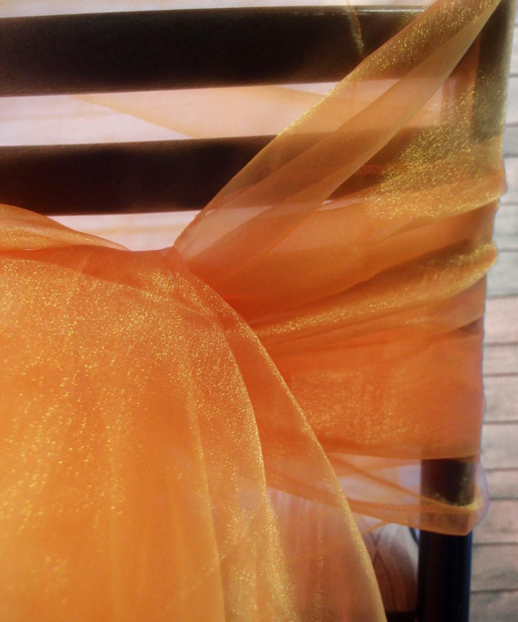 "Tangerine Two-tone Organza Sheet 54"" x 108"""
