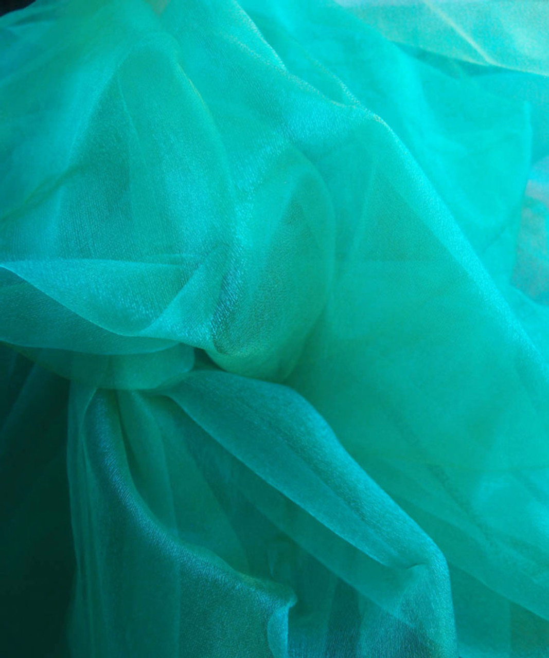 "Caribbean Green Two-tone Organza Sheet 54"" x 108"""