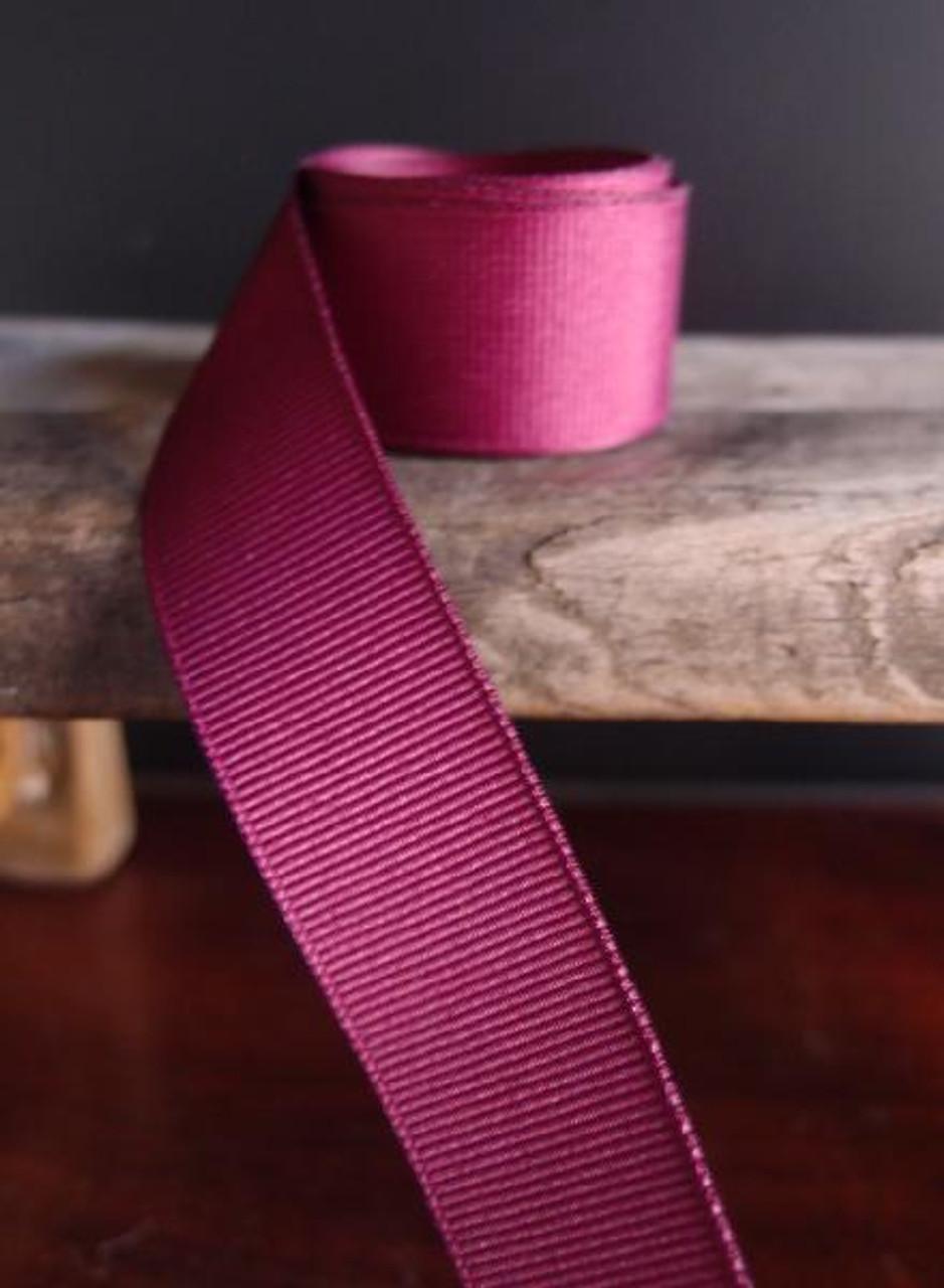 Burgundy Grosgrain Ribbon (4 sizes)