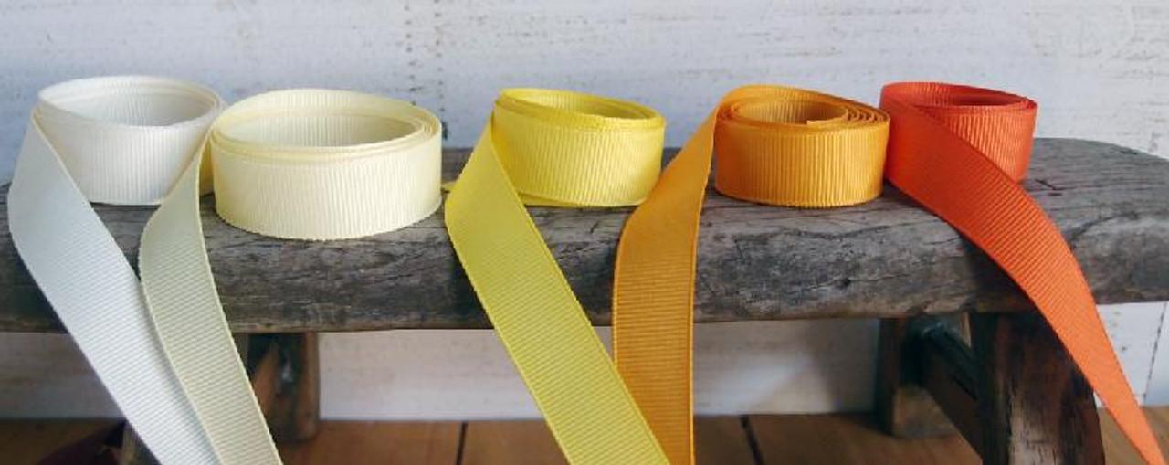 Yellow Grosgrain Ribbon (4 sizes)
